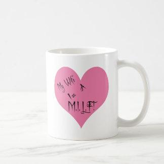 My Wife Is A M.I.L.F. Basic White Mug