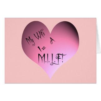 My Wife Is A M.I.L.F. Greeting Card