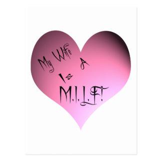 My Wife Is A M.I.L.F. Postcard