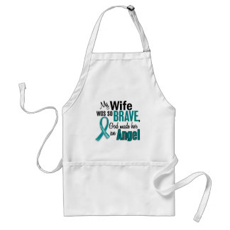 My Wife Is An Angel 1 Ovarian Cancer Apron