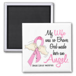 My Wife Is An Angel 2 Breast Cancer Square Magnet