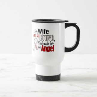 My Wife Is An Angel Lung Cancer Coffee Mugs