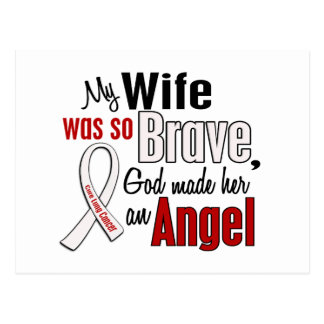 My Wife Is An Angel Lung Cancer Postcard