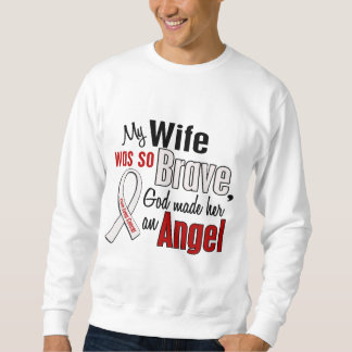 My Wife Is An Angel Lung Cancer Pull Over Sweatshirts