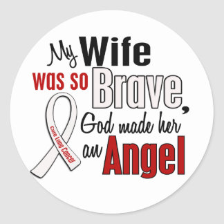 My Wife Is An Angel Lung Cancer Sticker