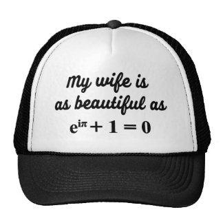My wife is as beautiful as Euler's Identity cap