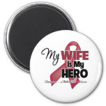 My Wife is My Hero - Multiple Myeloma 6 Cm Round Magnet