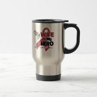 My Wife is My Hero - Multiple Myeloma Stainless Steel Travel Mug