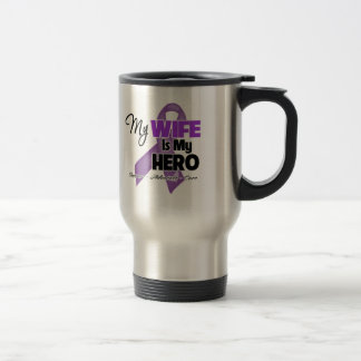 My Wife is My Hero - Purple Ribbon Coffee Mugs