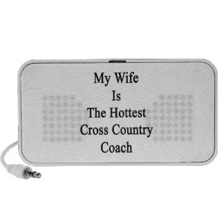 My Wife Is The Hottest Cross Country Coach Notebook Speaker