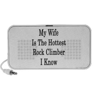 My Wife Is The Hottest Rock Climber I Know iPod Speaker