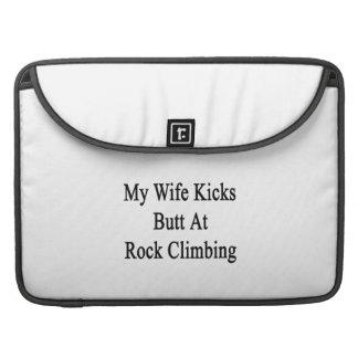 My Wife Kicks Butt At Rock Climbing Sleeve For MacBooks