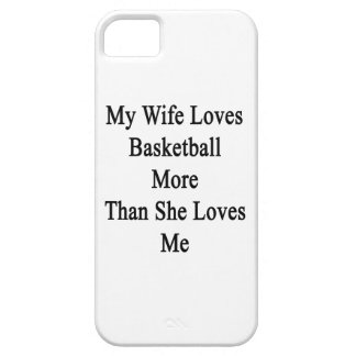 My Wife Loves Basketball More Than She Loves Me iPhone 5 Cases