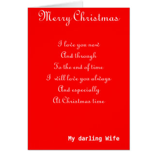 My wife romantic Christmas greeting cards