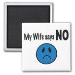 My wife says NO Fridge Magnets