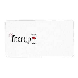 My (Wine) Therapy Shipping Label