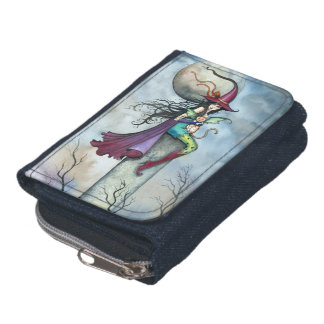 My Winged Tabby Witch Cat Fantasy Halloween Art Wallet