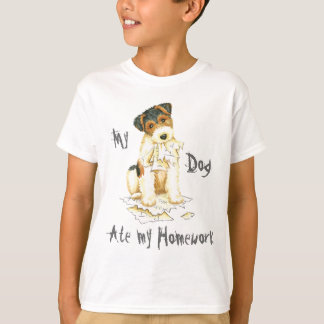 My Wire Fox Terrier Ate My Homework T-Shirt