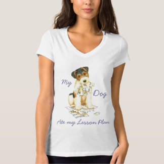 My Wire Fox Terrier Ate My Lesson Plan T-Shirt