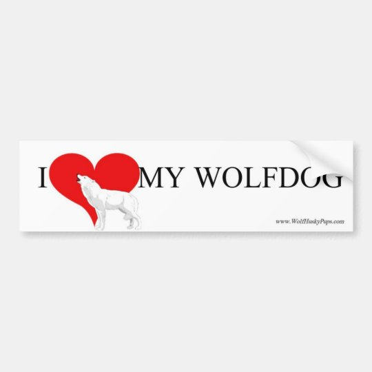 ♥ MY WOLFDOG BUMPER STICKER