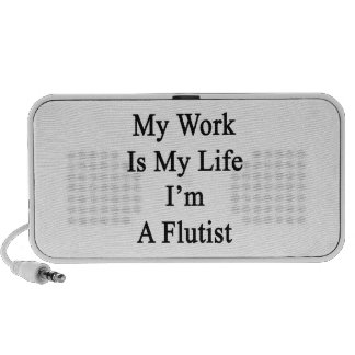 My Work Is My Life I'm A Flutist Notebook Speaker