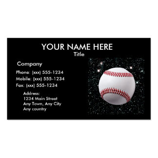 MY WORLD: BASEBALL (v.2 baseball professionals) Pack Of Standard Business Cards