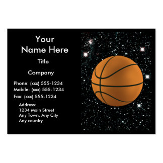 MY WORLD: BASKETBALL ~ PACK OF CHUBBY BUSINESS CARDS