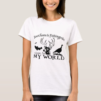 MY WORLD - CATFISH,DEER & TURKEY T-Shirt