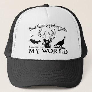 MY WORLD - CATFISH,DEER & TURKEY TRUCKER HAT