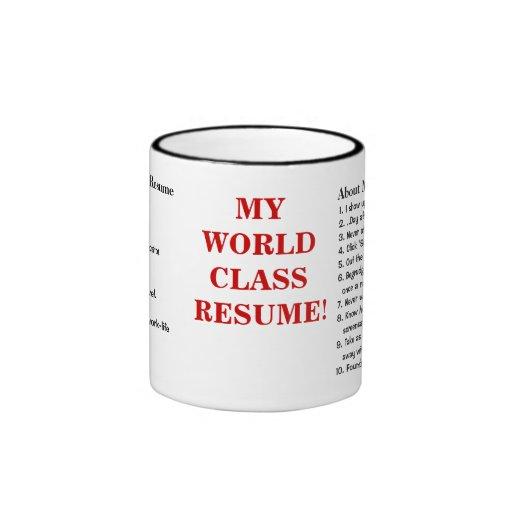 my world class resume resume sles ringer