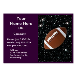 MY WORLD: FOOTBALL (for coaches / instructors) ~ Pack Of Chubby Business Cards