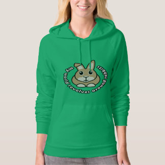 My World Revolves Around Rabbits Hoodie Sweatshirt