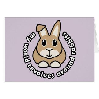 My World Revolves Around Rabbits Note Card