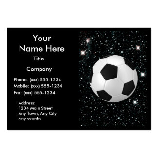 MY WORLD: SOCCER ~ PACK OF CHUBBY BUSINESS CARDS