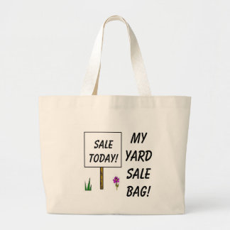 MY YARD SALE BAG! LARGE TOTE BAG