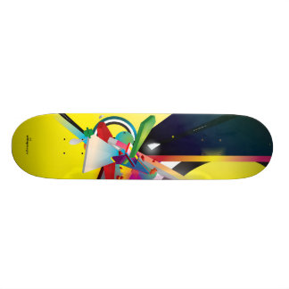 My Yellow Abstract Skateboard