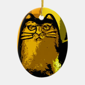 MY YELLOW CAT CHRISTMAS ORNAMENT
