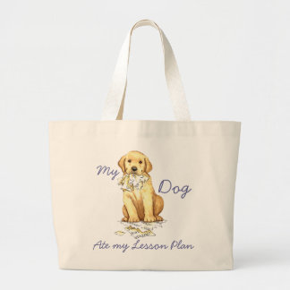 My Yellow Lab Ate My Lesson Plan Jumbo Tote Bag