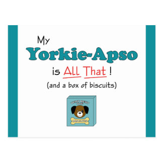 My Yorkie-Apso is All That Postcard