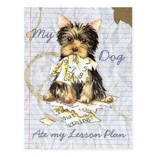 My Yorkie Ate My Lesson Plan Postcard