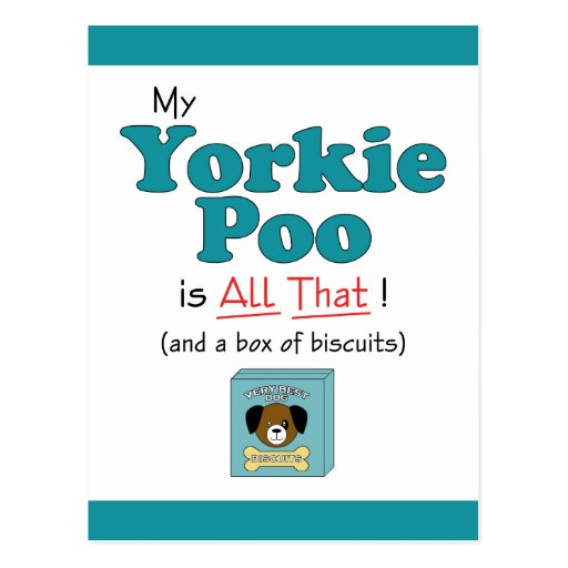 My Yorkie Poo is All That! Post Card