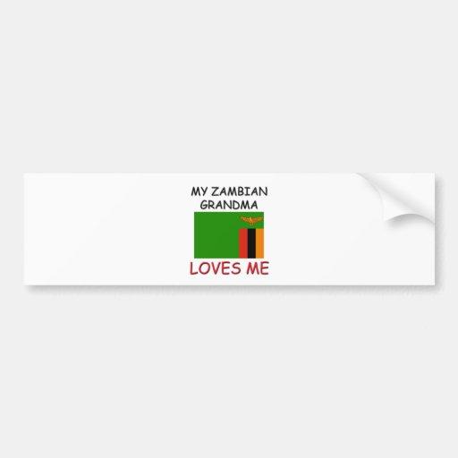 My Zambian Grandma Loves Me Bumper Stickers