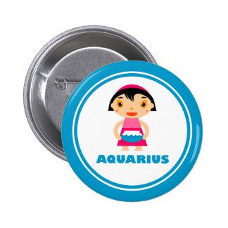 My Zodiac Sign is Aquarius 6 Cm Round Badge