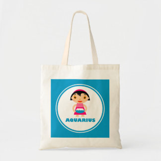 My Zodiac Sign is Aquarius Budget Tote Bag