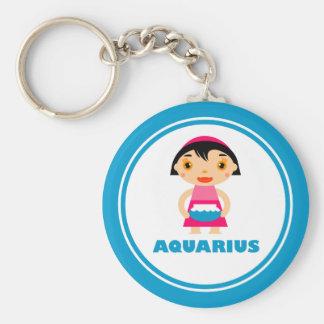 My Zodiac Sign is Aquarius Basic Round Button Key Ring