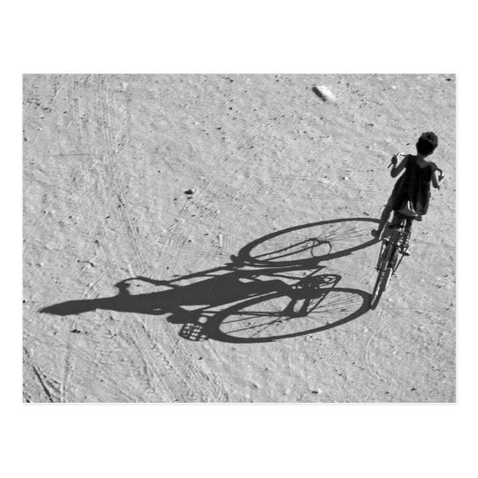 Myamar, Bagan, Young boy riding a huge bike