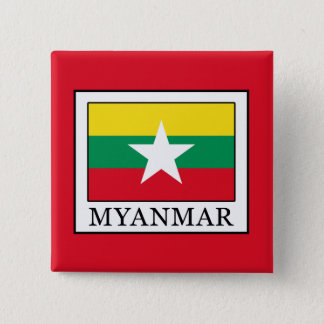 Myanmar 15 Cm Square Badge