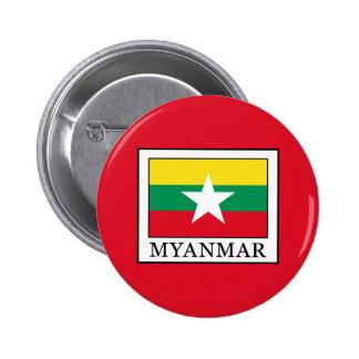 Myanmar 6 Cm Round Badge