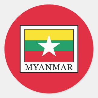 Myanmar Classic Round Sticker