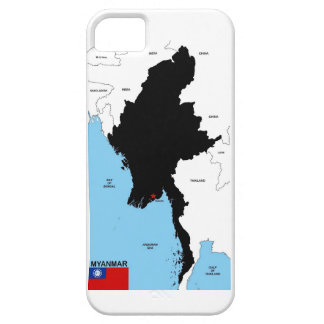 Myanmar country political map shape flag iPhone 5 cases